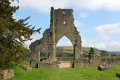 Ancient Abbey Ruins royalty free stock photos