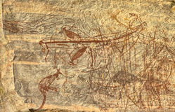 Ancient Aboriginal Rock Drawing Royalty Free Stock Photos