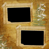 Ancient  abstract background with frame and bou Royalty Free Stock Photo