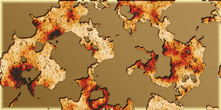 Ancient abstract map. Ancient abstract geographic map background Royalty Free Stock Photos