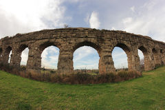 Ancient Acqueduct Ruins Royalty Free Stock Images