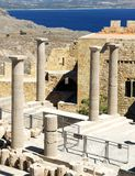 Ancient Acropolis in Rhodes Stock Photography