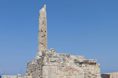 Ancient Aegina in Greece. The Colona Royalty Free Stock Photo