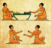 Ancient Aegypt, boad game players, morra players Stock Images