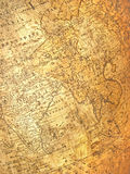 Ancient aged map. Far east fragment of ancient aged map stock images