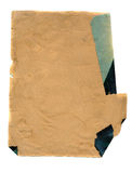 Ancient aged paper background. Ancient aged and ripped paper background stock photography