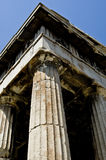 Ancient agora. Statue in athens Royalty Free Stock Photo