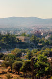 Ancient Agora. Of Athens with temple of Hephaestus Royalty Free Stock Image