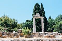 Ancient Agora in Kos island, Greece. Ancient Agora ancient ruins in Kos island, Greece Stock Photos