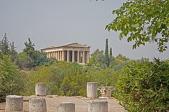 Ancient Agora, Athens. The ancient Agora in Athens, Greece, showing the columns and pillars stock photography