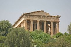 Ancient Agora, Athens. The ancient Agora in Athens, Greece, showing the columns and pillars royalty free stock image