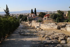 Ancient Agora of Athens. The Ancient Agora of Classical Athens is the best-known example of an ancient Greek agora, located to the northwest of the Acropolis and Royalty Free Stock Photos