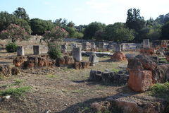 Ancient Agora of Athens. The Ancient Agora of Classical Athens is the best-known example of an ancient Greek agora, located to the northwest of the Acropolis and Stock Photo