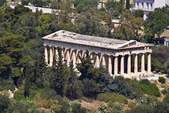 Ancient agora of Athens at Greece. Temple of Hephaestus at ancient agora of Athens, Greece Royalty Free Stock Images