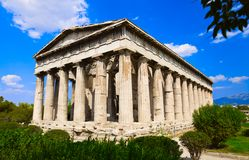 Ancient Agora at Athens, Greece. Travel background Royalty Free Stock Photo