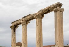 Ancient Agora, Athens, Greece. Ancient ruins inside Roman Agora, Athens, Greece Stock Photo