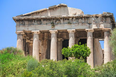 Ancient Agora of Athens, Greece. Beautiful view of the temple of Hephaestus in the Ancient Agora of Athens, Greece Stock Photos