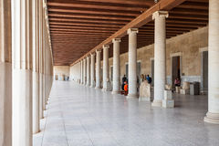 Ancient Agora in Athens. ATHENS, GREECE - OCTOBER 19, 2016: The Museum of the Ancient Agora inside the Stoa of Attalos in Athens, Greece Stock Photo