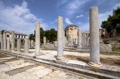 Ancient Agora, Athens, Greece. Ancient ruins inside Roman Agora, Athens, Greece Stock Photos