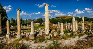 Ancient agora with Dorian  columns Royalty Free Stock Photos