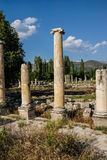 Ancient agora with Dorian  columns Stock Photo