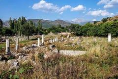 Ancient agora with Dorian  columns Stock Photography