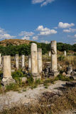 Ancient agora with Dorian  columns Royalty Free Stock Images