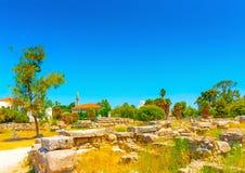 At ancient Agora of Kos Stock Photo