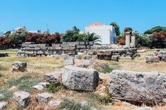 Ancient Agora in Kos island, Greece. Ancient Agora ancient ruins in Kos island, Greece Stock Images