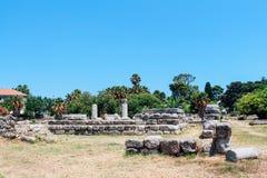 Ancient Agora in Kos island, Greece. Ancient Agora ancient ruins in Kos island, Greece Stock Photo