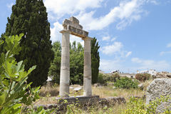The ancient Agora at Kos island in Greece Stock Photo