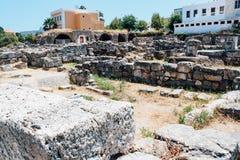 Ancient Agora in Kos island, Greece. Ancient Agora ancient ruins in Kos island, Greece Stock Image