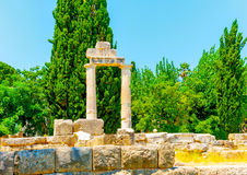 At ancient Agora of Kos Royalty Free Stock Photos