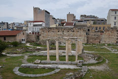 Ancient agora modern city Stock Photo