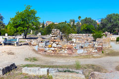 Ancient Agora view in, Athens, Greece Royalty Free Stock Image
