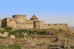Ancient Akkerman fortress at Belgorod-Dnestrovsky, near Odessa, Ukraine. Citadel old fortress photo Stock Image