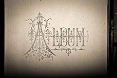 Ancient album letters, sepia Stock Photos
