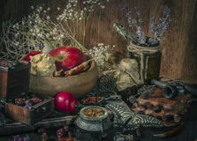 Ancient alchemical still life Royalty Free Stock Photography