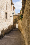 Ancient alley with arc in Baeza Jaen Stock Images