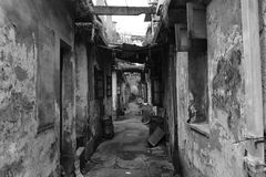 Ancient alley deep. That ancient alleys and quiet, it does not change the historical development of shred Stock Photo