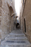 Ancient Alley in Jewish Quarter, Jerusale Stock Images