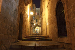 Ancient Alley in Jewish Quarter, Jerusale Royalty Free Stock Photography