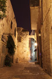 Ancient Alley in Jewish Quarter, Jerusale Royalty Free Stock Photo