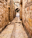 Ancient Alley in Jewish Quarter, Jerusalem. Israel Stock Image