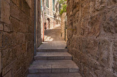 Ancient Alley in Jewish Quarter, Jerusalem Stock Photo