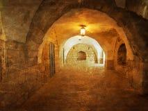 Ancient Alley in Jewish Quarter, Jerusalem. Stock Photos