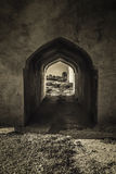 Ancient alley over a castle in Iraq Stock Photography