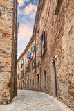 Ancient alley in Volterra, Tuscany, Italy Stock Photo