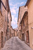 Ancient alley in Volterra, Tuscany, Italy Royalty Free Stock Images