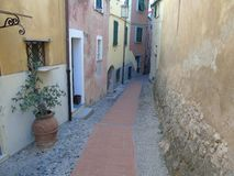 Ancient alleys in the village. Tellaro, Liguria, Italy, ancient alleys in the village Royalty Free Stock Photography